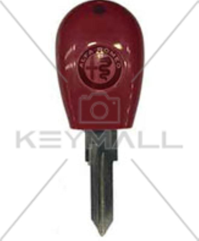 Llave Hueca Alfa Romeo Roja 2 Cortes