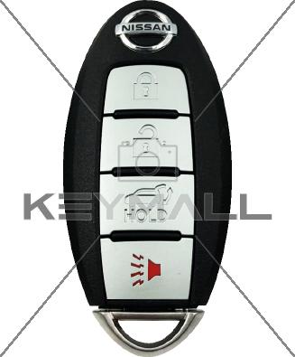 LLAVE CONTROL NISSAN PROX FCC KR5S180144014 4B TAPA 433MHZ ID 47